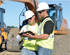 Construction equipment field service and repair