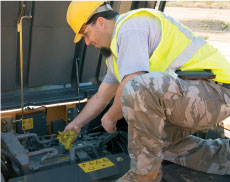 Certified technicians analyze your machine's oil and fluids